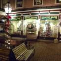 Creamery exterior - Christmas lights at night